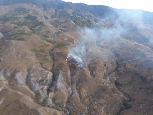 Incendio forestal declarado en Tabernas