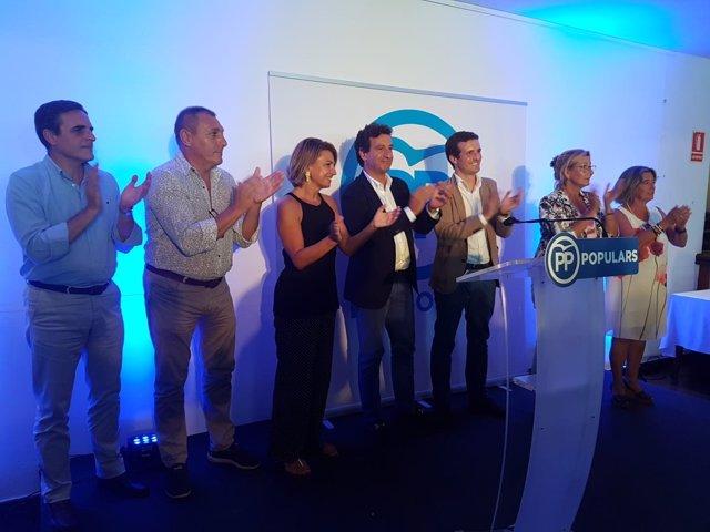 Acto del PP en Menorca. Biel Company y Pablo Casado
