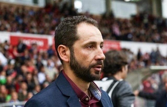El entrenador del Sevilla FC, Pablo Machín
