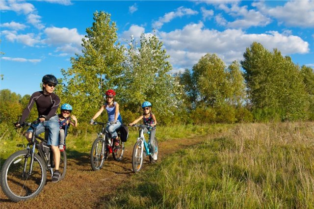 Rutas en bicicleta con las que disfrutar en familia.