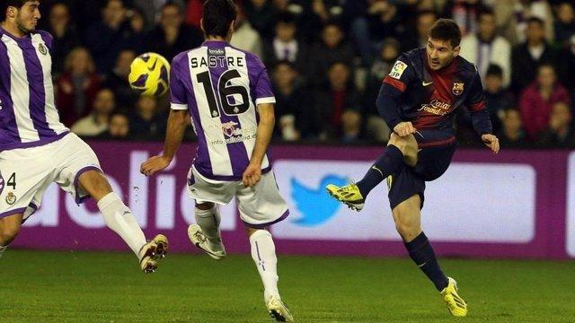 Leo Messi en el Valladolid - Barcelona de la temporada 2012/13