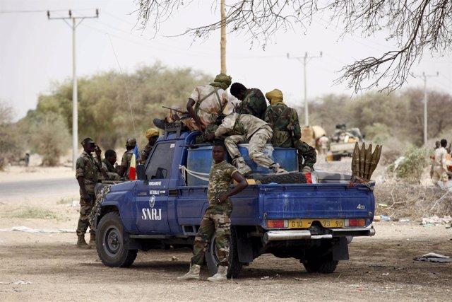 Militares chadianos