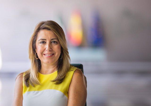 La presidenta de la Junta, Susana Díaz, en San Telmo