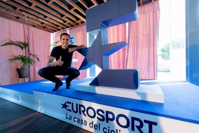 Alberto Contador, en un evento promocional de Eurosport