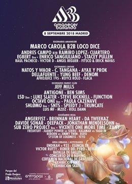 Cartel del festival 'Amanecer Bailando'