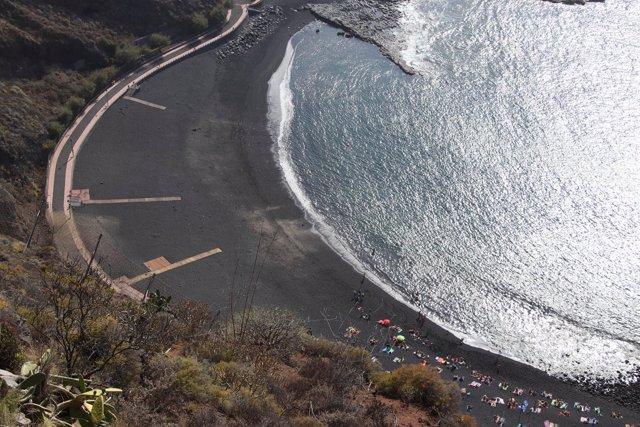 Cierra parcial de la playa de La Arena
