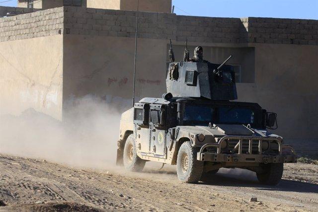 Miliitares de las fuerzas especiales iraquíes en la ofensiva de Mosul