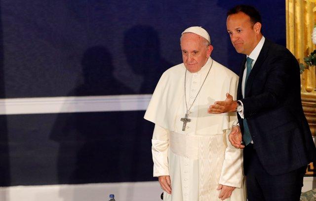 Leo Varadkar y el Papa Francisco en Dublín