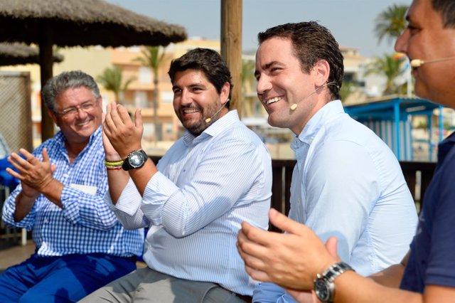 El presidente del Partido Popular de la Región de Murcia, Fernando López Miras
