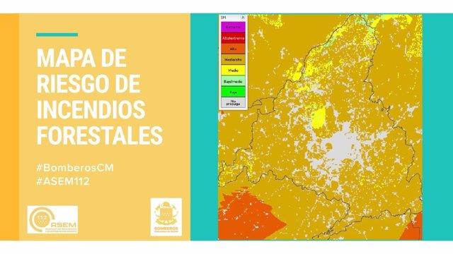Mapa de riesgo de incendios