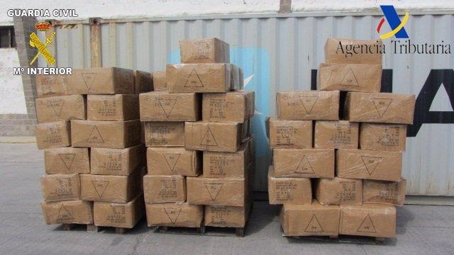 Paquetes intervenidos en Melilla