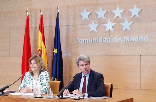 El presidente de la Comunidad de Madrid, Ángel Garrido, en consejo de Gobierno