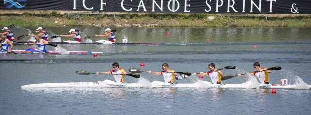 España logra la plata en K2 200 y el bronce en K4 1000 en el Mundial