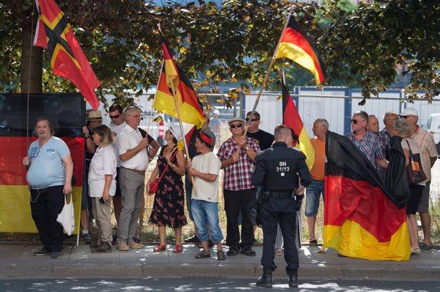 Manifestación antiislamista en Dresde