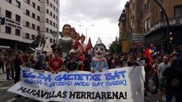 Manifestación en Pamplona en apoyo al 'Gaztetxe Ma