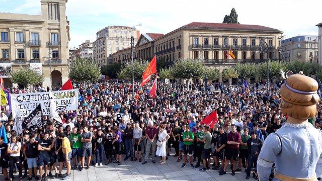 Manifestación en apoyo al 'Gaztetxe Maravillas'