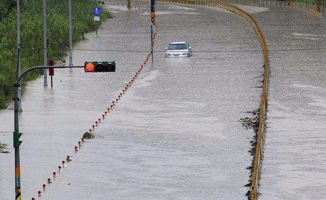Inundaciones en Taiwán