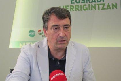 """Esteban afirma que PNV intentará pactar el nuevo estatus con """"diferentes ideológicos"""" y el Gobierno del PSOE """"lo sabe"""""""
