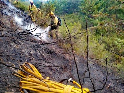 Controlados los dos incendios del parque natural de O Invernadoiro (Ourense) tras quemar más de 112 hectáreas