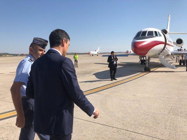 Pedro Sánchez en la Base Aérea de Torrejón de Ardoz (Madrid)