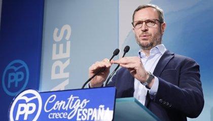 """Maroto (PP): """"Sánchez ve el mundo al revés, ampara a quienes propician violencia y desampara a los que defienden España"""""""