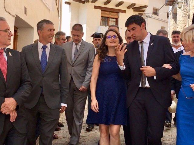 Mónica Oltra y Rafa Climent en el Sexenni de Morella