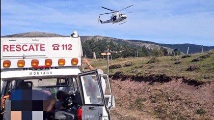 Un ciclista de 41 años trasladado en helicóptero al San Pedro tras sufrir un accidente en un prueba BTT en Ventrosa