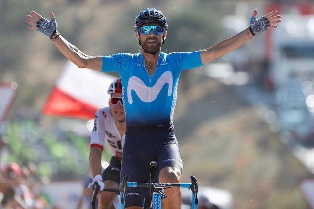 Alejandro Valverde, tras ganar la segunda etapa de la Vuelta a España 2018