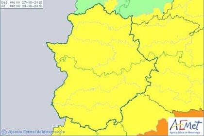 El 112 activa la alerta amarilla por altas temperaturas en toda Extremadura este lunes