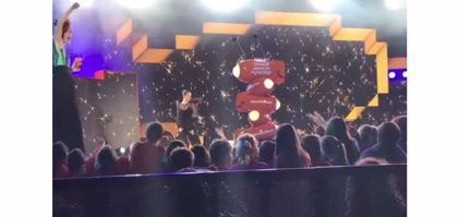 La caída de Natalia Oreiro en los 'Kids Choice Awards Argentina 2018'