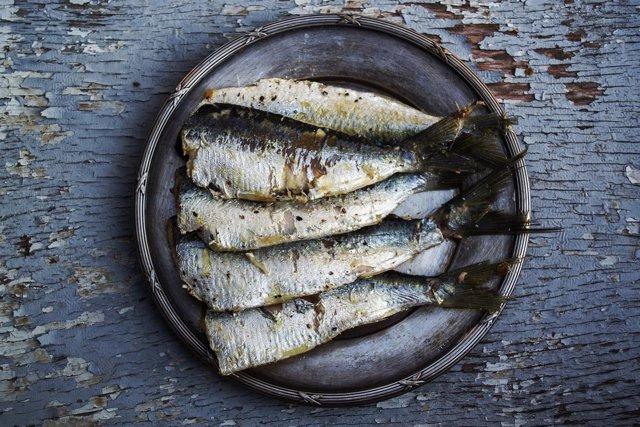 Pescado, peces, sardinas, comida, alimentos