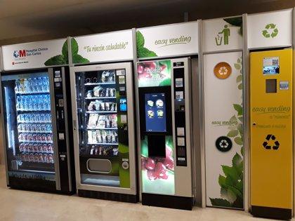Empresas.- El Hospital Clínico San Carlos incorpora expendedoras de alimentos sanos en sus entradas principales