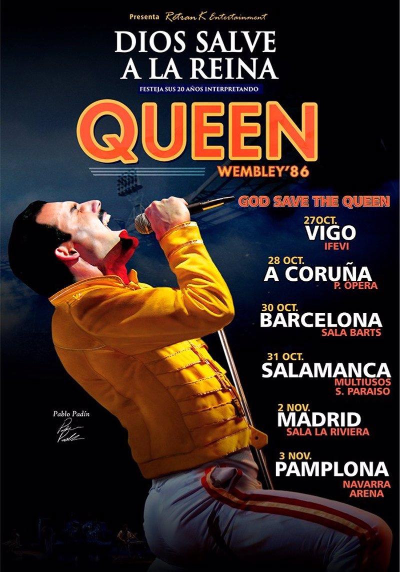 God Save the Queen reviven el directo Wembley 86 en una gira española por  seis ciudades