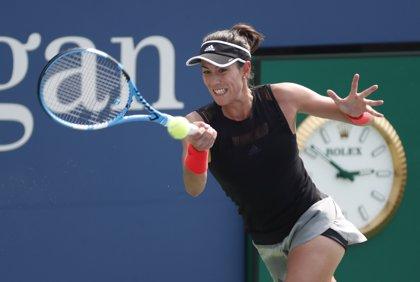 Muguruza arrolla a la china Zhang en su debut en el US Open