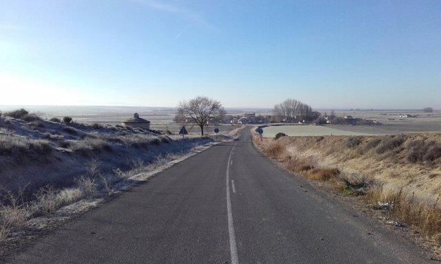 Imagen de la obra en la carretera