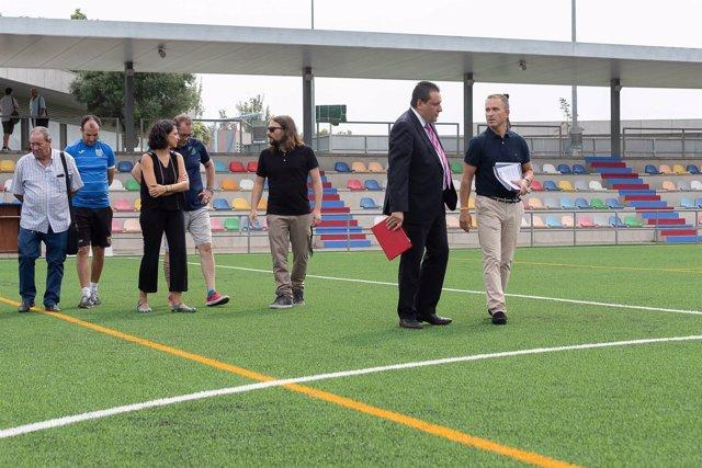 El ayuntamiento completa la instalaci n de c sped artificial en siete campos de f tbol y uno de - Cesped artificial zaragoza ...