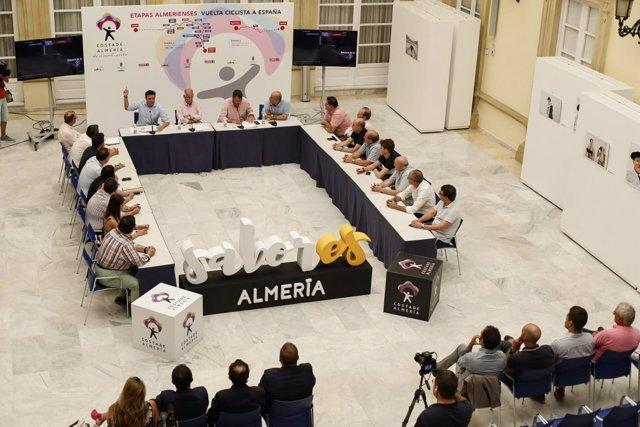 Momento de la presentación de las dos etapas de La Vuelta que pasan por Almería