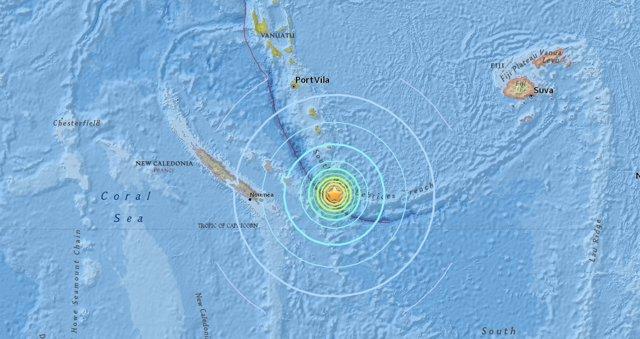 Terremoto de magnitud 7,1 en Nueva Caledonia