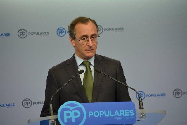 Alfonso Alonso, presidente dle PP vasco