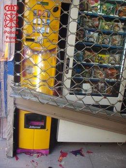 Daños en máquinas expendedoras.