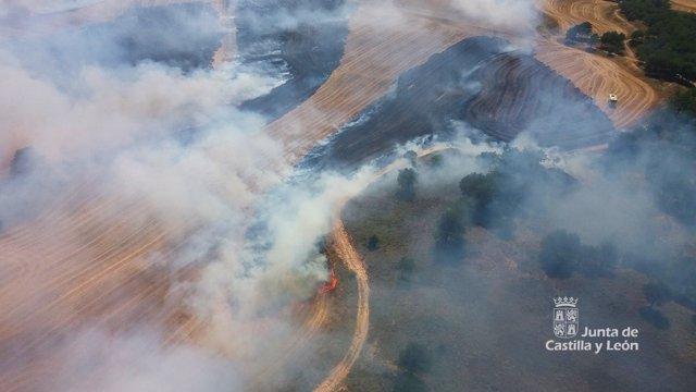 Incendio en Villatoro (Burgos) 28-8-2018