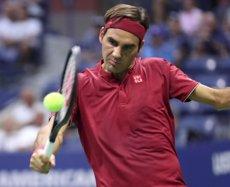 Federer derrota Nishioka en la primera ronda de l'US Open (USTA/DARREN CARROLL)