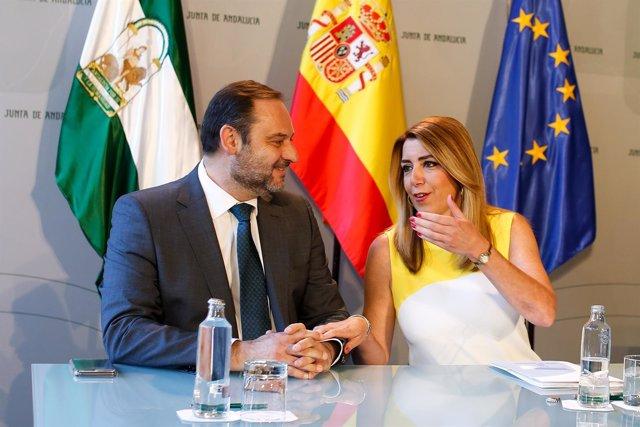 José Luis Ábalos y Susana Díaz.
