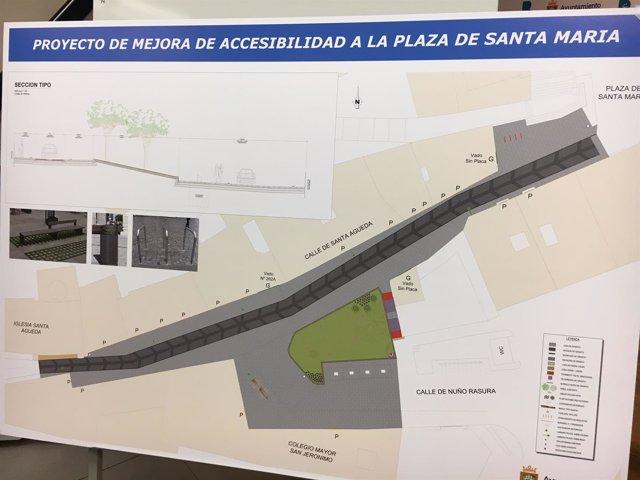 Proyecto de la Plaza de Santa María.