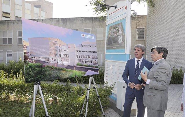 El presidente de la Comunidad, Ángel Garrido, en el hospital Gregorio Marañón
