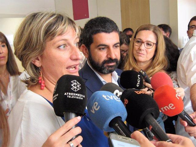 Alba Vergés, Chakir El Homrani, consellers de la Generalitat de Catalunya