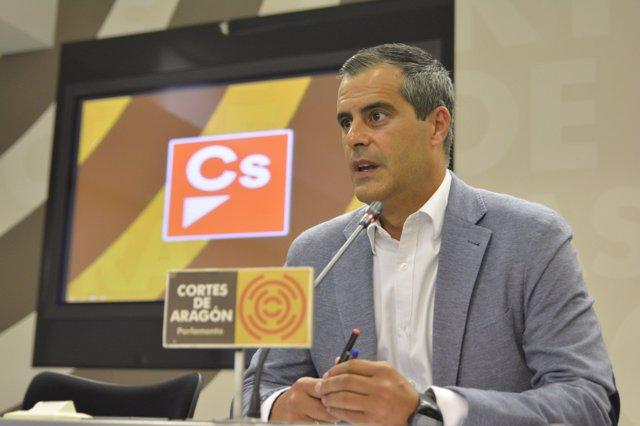 El portavoz de Empleo de Cs Aragón, Javier Martínez.