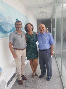 Tomeu Català, Jesus Mullor y Carmen Jiménez
