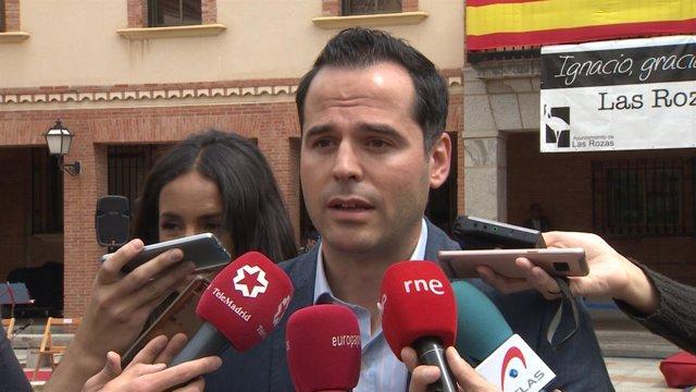 Ignacio Aguado (Cs) en el homenaje a Ignacio Echeverría