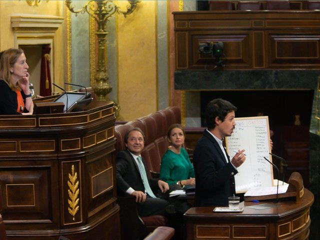 El diputado de Unidos Podemos Segundo González, en la tribuna